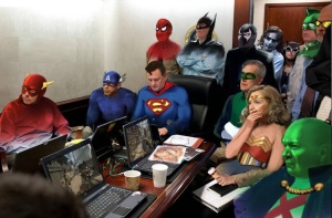 Situation Room Superheros - Bin Laden